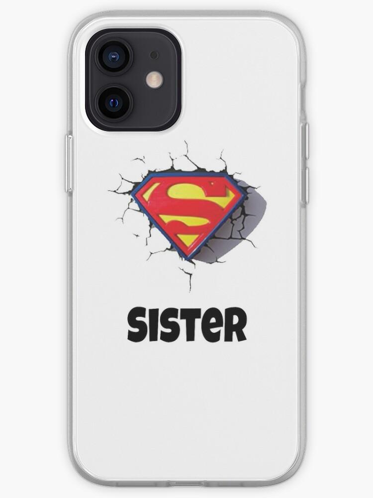 Meilleure sœur super fun - j'aime ma grande soeur - parfaite petite chemise cadeau soeur - tasse soeur   Coque iPhone