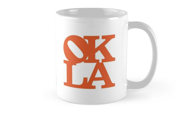 OKLA (Orange) Mug or Travel Mug by okjane