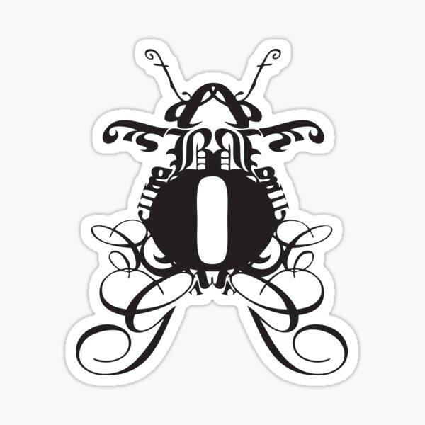 Typography Bug Sticker
