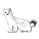Ermine (the Weasel in Winter) by QWERTYvsDVORAK