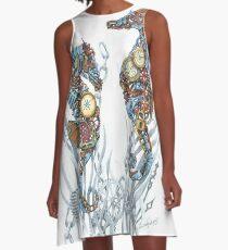 Sea Horse Treasures A-Line Dress