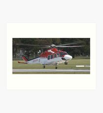 Ambulance Helecopter Art Print