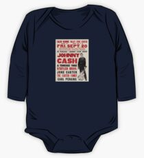 In Person Johnny Cash Show_vectorized One Piece - Long Sleeve