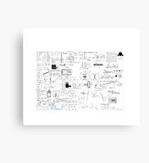 Physics Equations - Physics Formulas Canvas Print