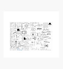 Physics Equations - Physics Formulas Photographic Print