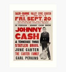 In Person Johnny Cash Show Art Print