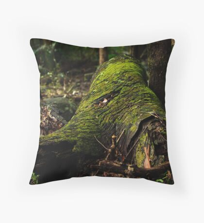 Mossy Log Throw Pillow