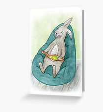 Hare with a book Greeting Card