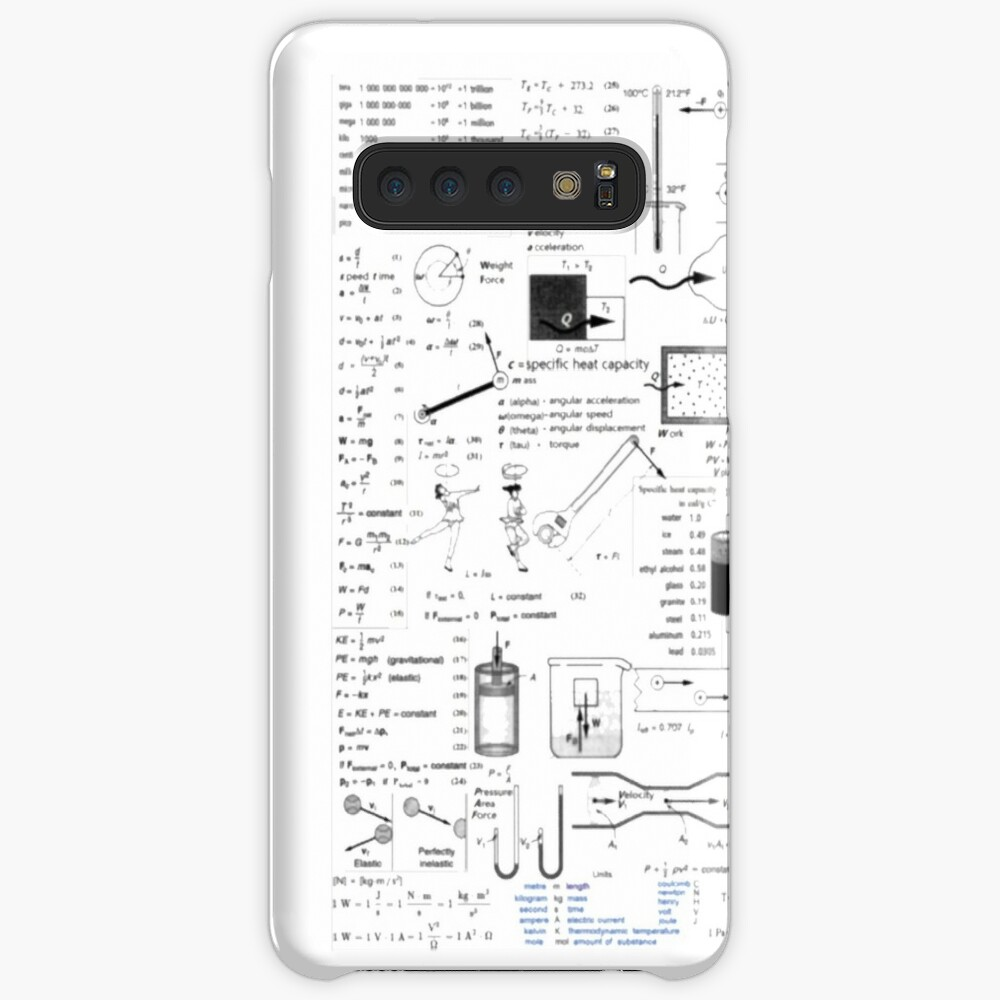 Physics Equations - Physics Formulas Case & Skin for Samsung Galaxy