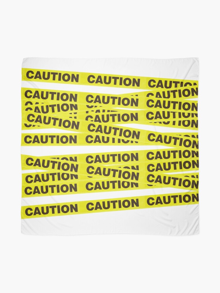 Caution Tape Scarf By Littleredmoose Redbubble