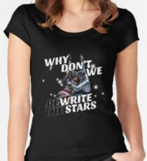 Rewrite the Stars black Women's Fitted Scoop T-Shirt