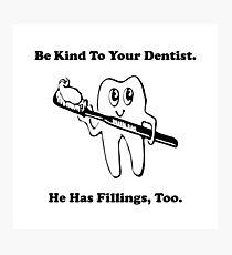 Dentist Filling Photographic Print