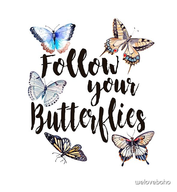 Follow your Butterflies by weloveboho