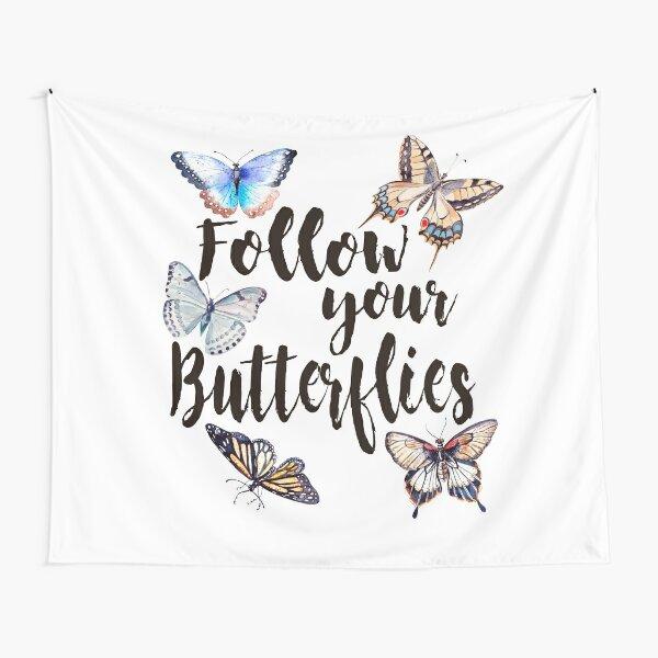 Follow your Butterflies Tela decorativa