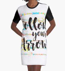 Follow your Arrow Graphic T-Shirt Dress