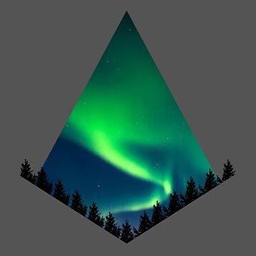 Aurora Borealis / Northernl Lights by Delta12Designs