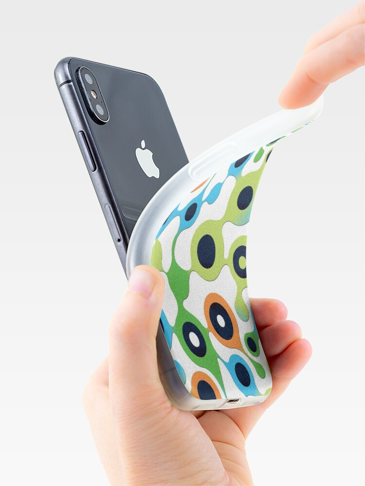 Alternate view of Life Molecule Style Pattern iPhone Case & Cover