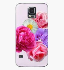 Blumen Hülle & Klebefolie für Samsung Galaxy