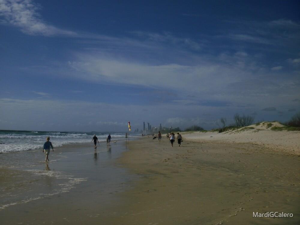 Long Walk on the Beach. Late adternoon by MardiGCalero