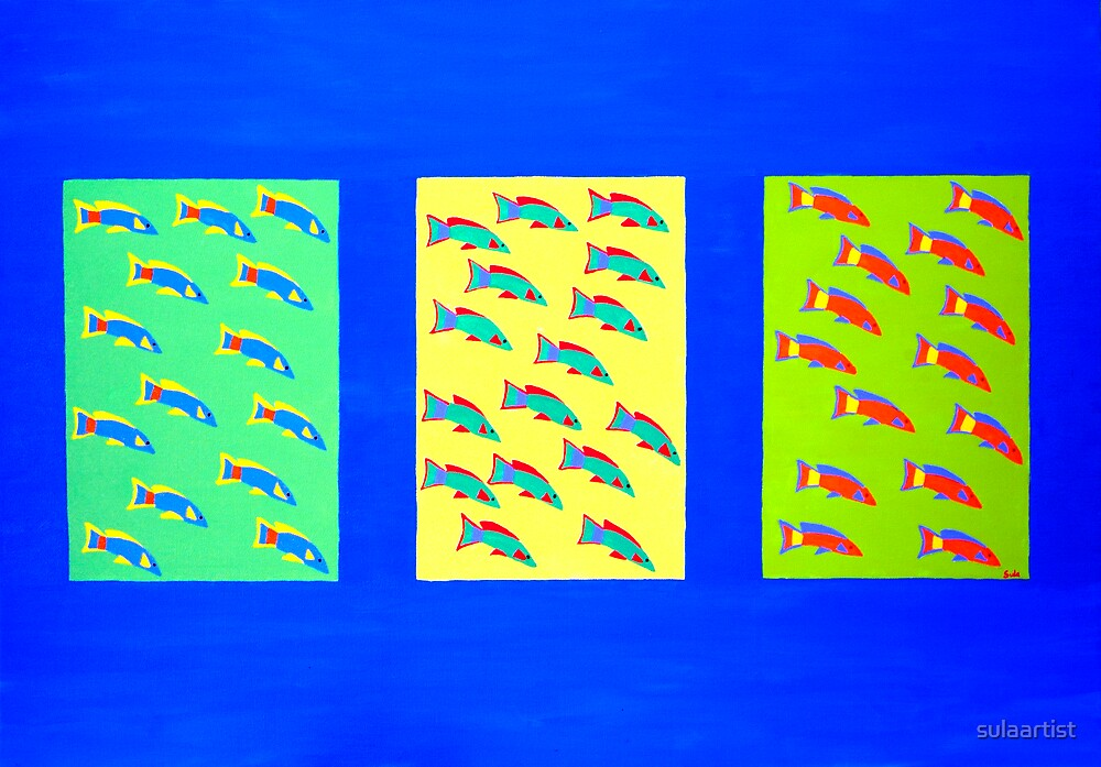Fish Triptych by sulaartist