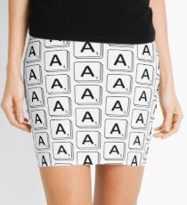 A scrabble print Mini Skirt
