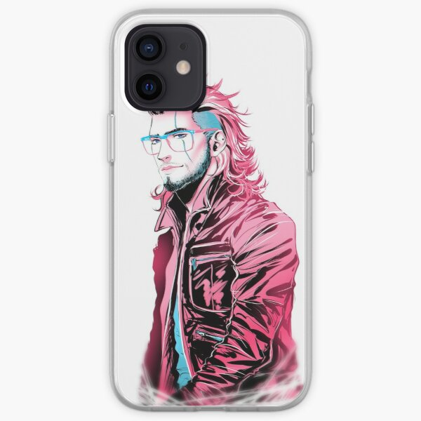 Dash of Pink, Pinch of Blue Gladio Ver. iPhone Soft Case