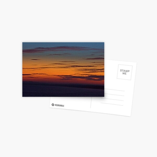 Sunset. North Sea. January 2008  Postcard