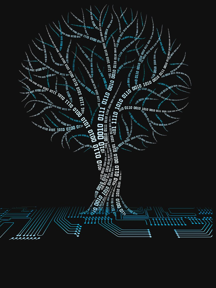 Cool Binary Tree Coding Computer Science T Shirts Gifts for Women Men by Anna0908