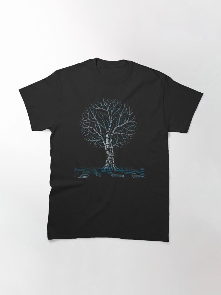 Alternate view of Cool Binary Tree Coding Computer Science T Shirts Gifts for Women Men Classic T-Shirt