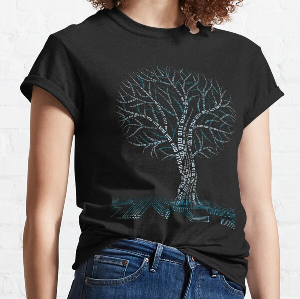 Cool Binary Tree Coding Computer Science T Shirts Gifts for Women Men Classic T-Shirt
