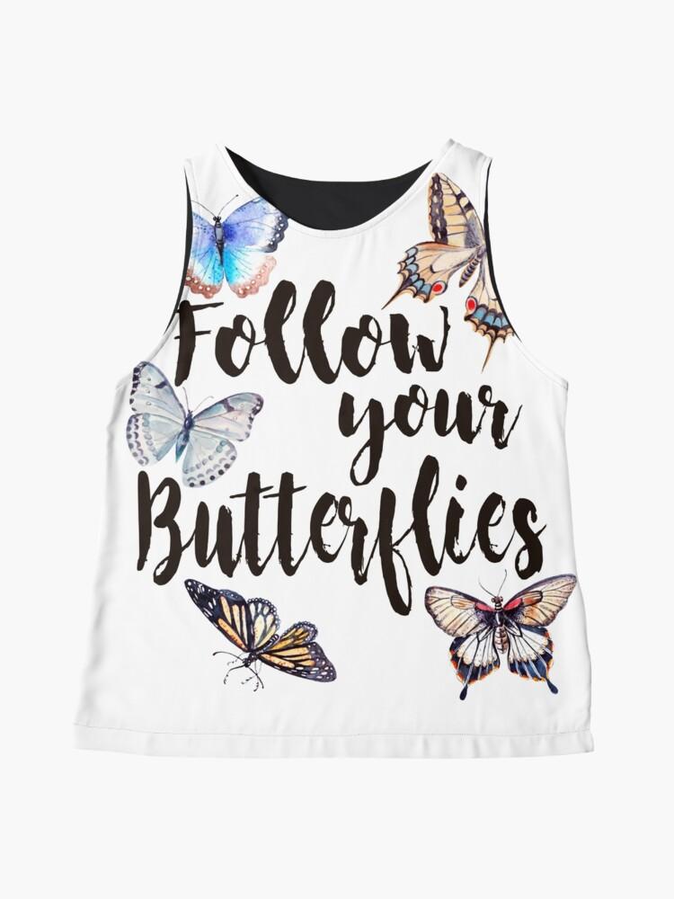 Vista alternativa de Blusa sin mangas Follow your Butterflies