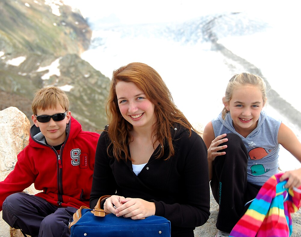 Chris, Hannah and Eleanor - Gornergrat by Colin Leal
