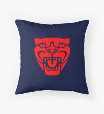 Jaguar head in red Floor Pillow