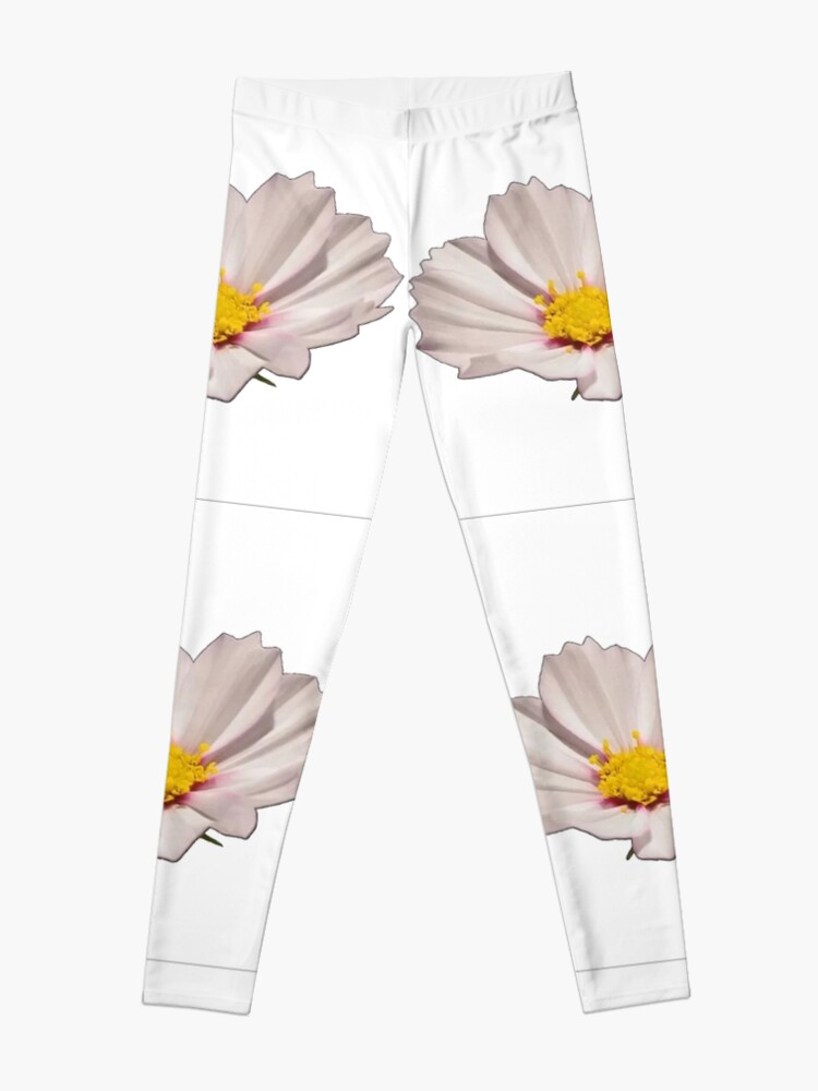 Alternate view of Flower with yellow center Leggings