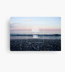 collect moment not things Canvas Print