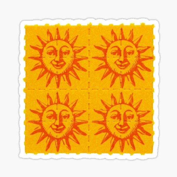 Naranja sol Pegatina