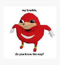 Do You Know The Way? - VRCHAT MEME Apparel & Accessory's [HD] Photographic Print