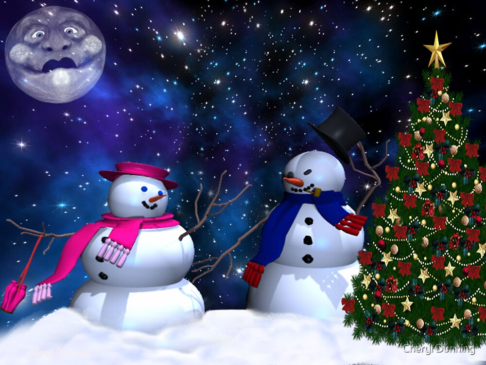 Quot Mr And Mrs Frosty Quot By Cheryl Dunning Redbubble