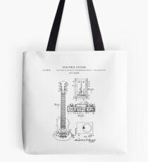 Guitar Patent Drawing Blueprint Tote Bag