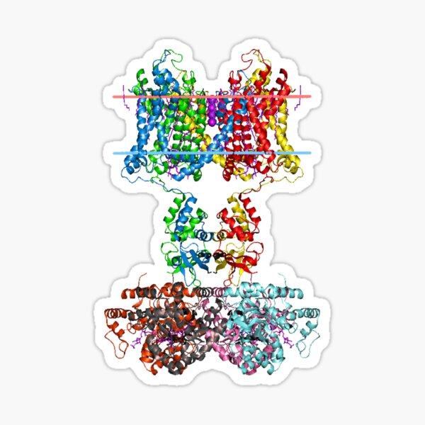 This giant biological molecule is an ion channel Sticker