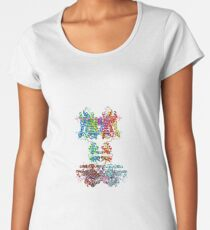 This giant biological molecule is an ion channel Women's Premium T-Shirt