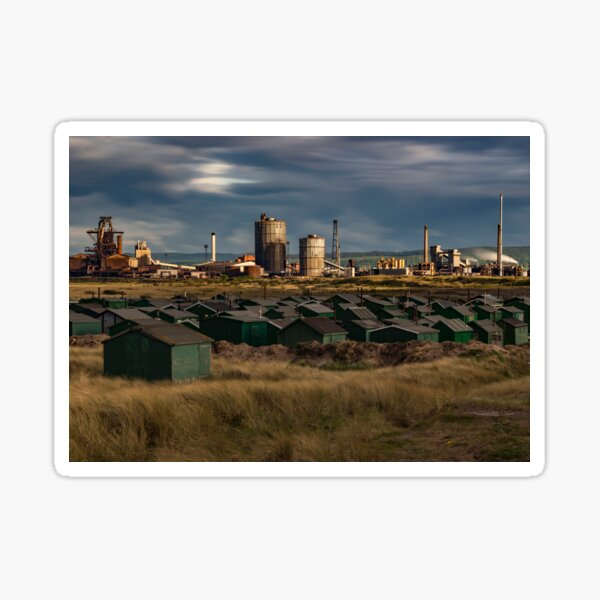 Fishermans Huts and Steel works  Sticker