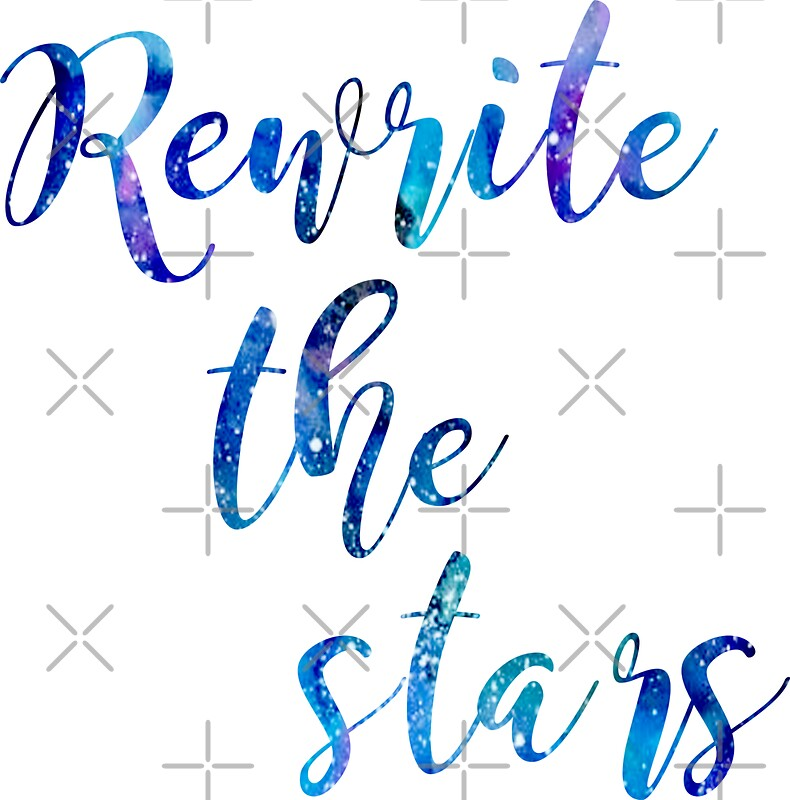 Quot Quot Rewrite The Stars Quot Blue And Purple Galaxy Quot Stickers By