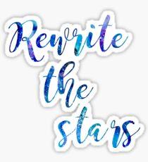 """Rewrite The Stars"" Blue and Purple Galaxy Sticker"