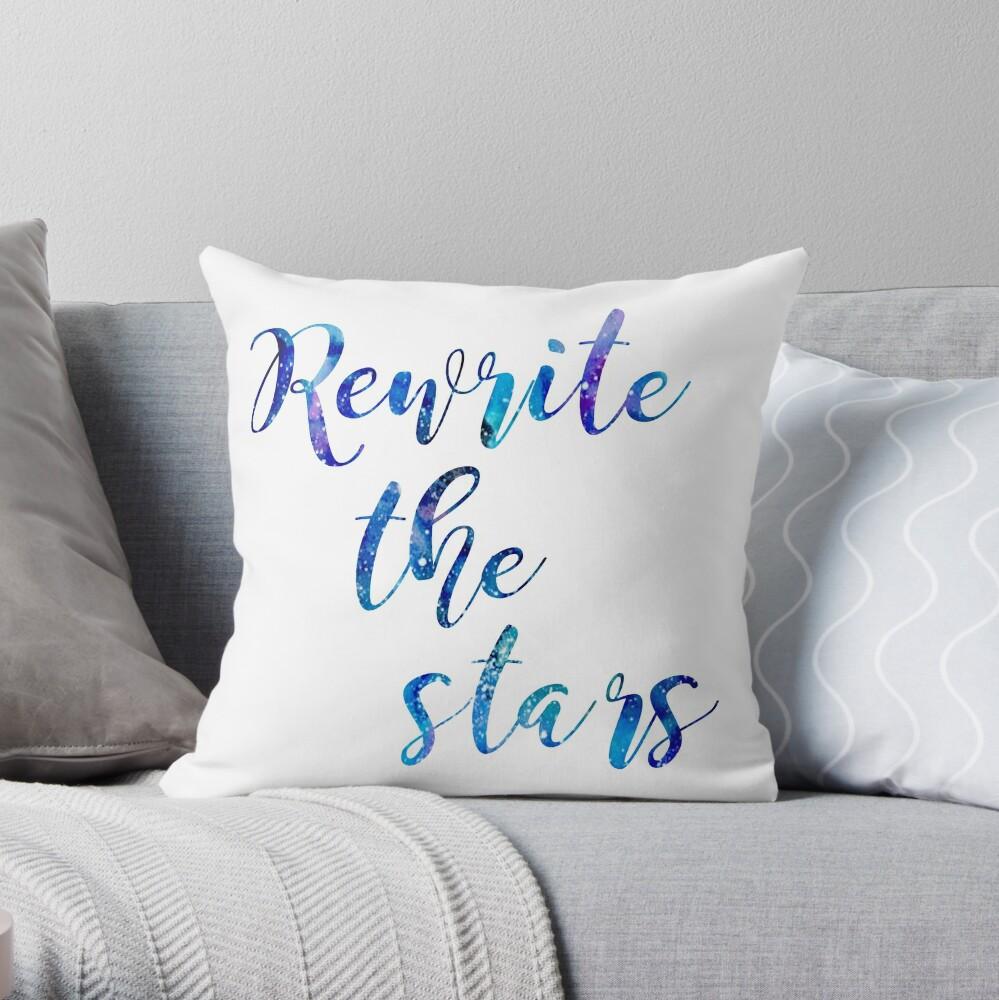"""""""Rewrite The Stars"""" Galaxy azul y púrpura Cojín"""