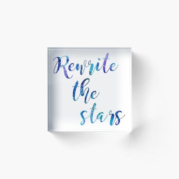 """Rewrite The Stars"" Blue and Purple Galaxy Acrylic Block"