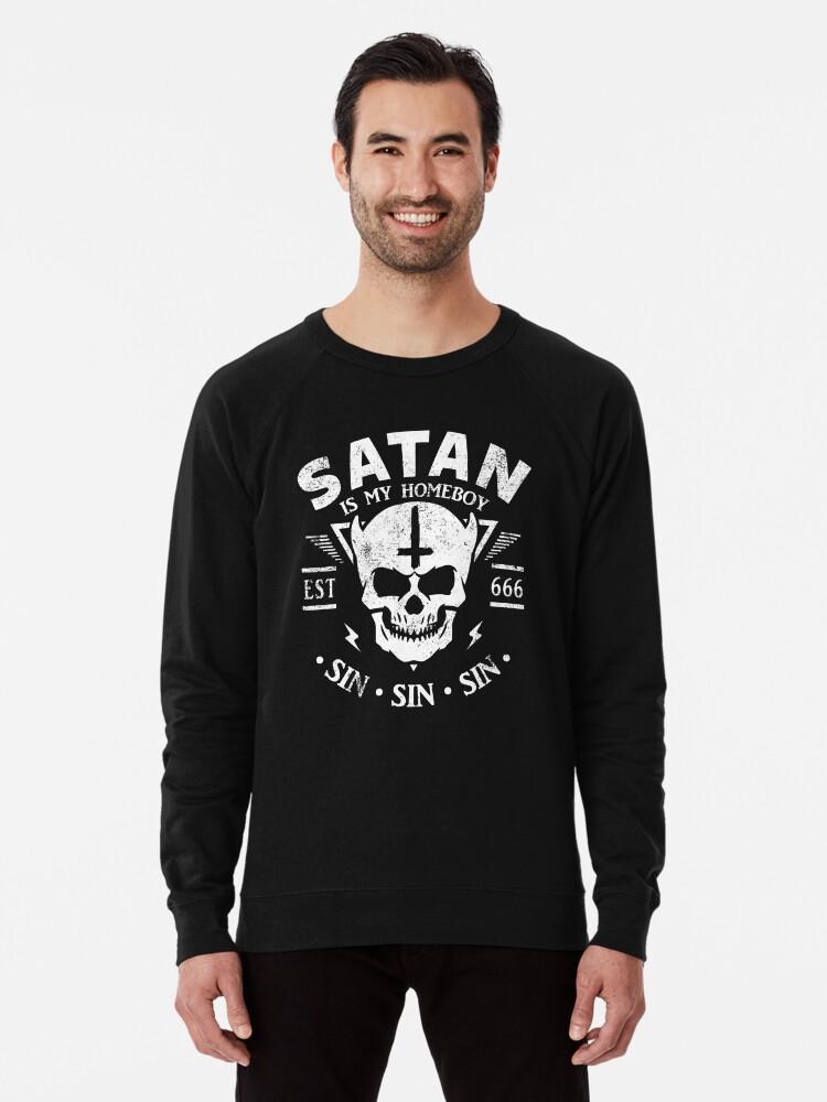 Baphomet is my homeboy satanic satanism lucifer devil Sweatshirt