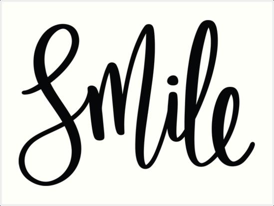 Láminas artísticas «Sonrisa cursiva» de DekkoDesignLabs ...