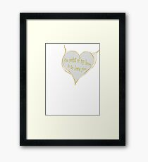 Hearty Greeting Framed Print