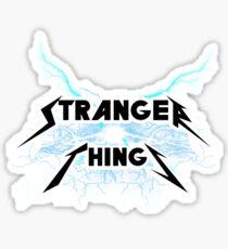Pegatina Stranger things estilo Metallica